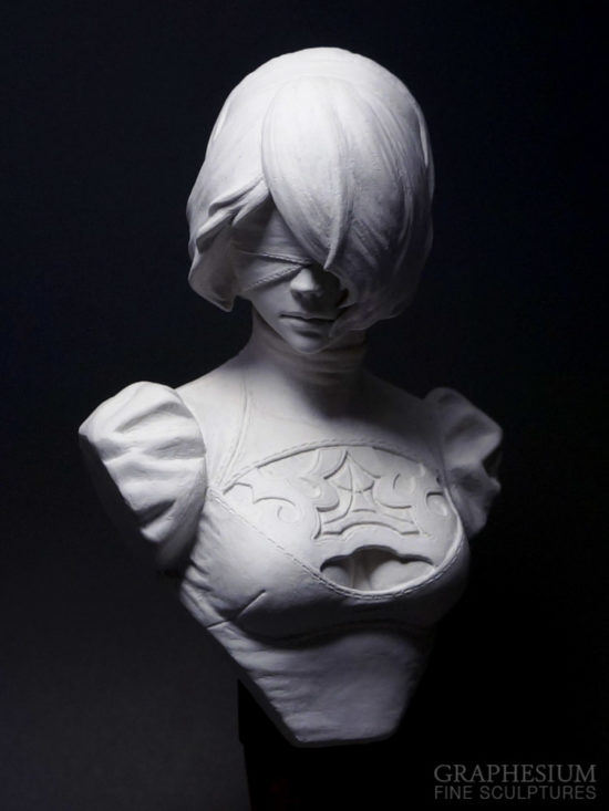 Custom handmade Yorha 2B (Nier: Automata) sculpture / statue / figure by Graphesium (gsculpt)