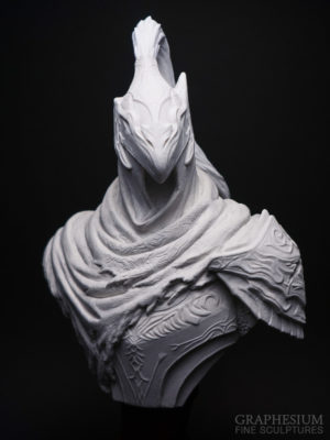 Custom handmade stone Knight Artorias / 騎士アルトリウス - 深淵歩き, the Abysswalker (Dark Souls) sculpture / statue / figure by Graphesium (gsculpt)