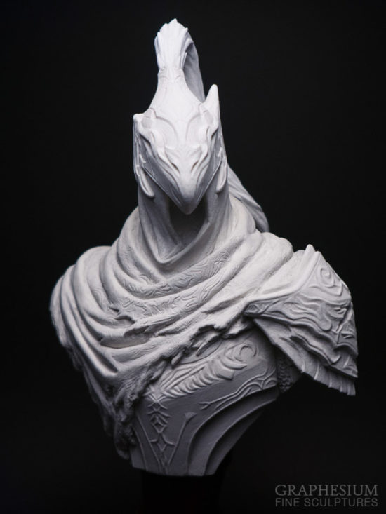 Custom handmade Knight Artorias, the Abysswalker (Dark Souls) sculpture / statue / figure by Graphesium (gsculpt)