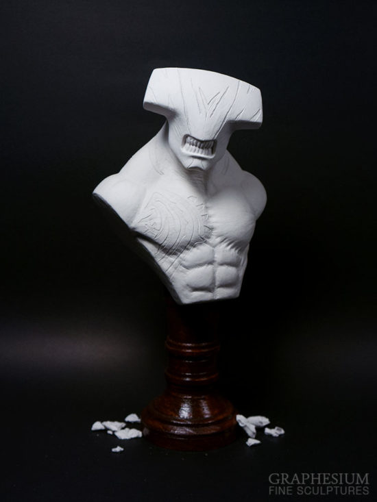 Custom handmade Faceless Void (Dota 2) sculpture / statue / figure by Graphesium (gsculpt)