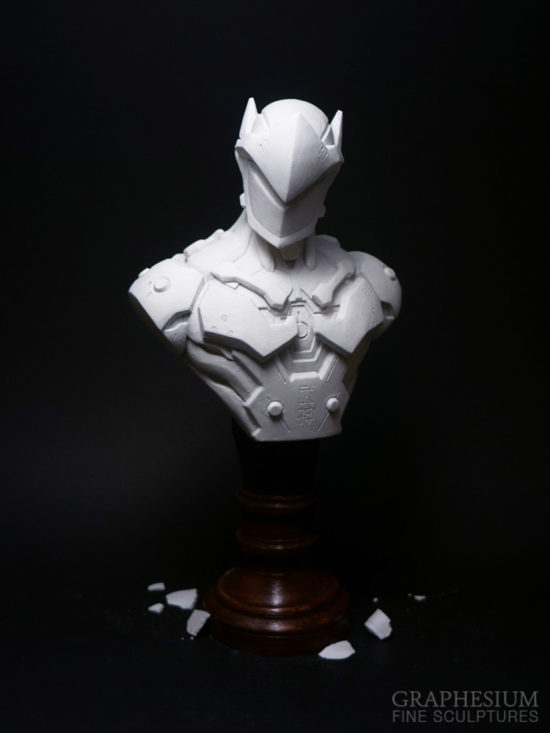 Custom handmade Genji Shimada (Overwatch) sculpture / statue / figure by Graphesium (gsculpt)