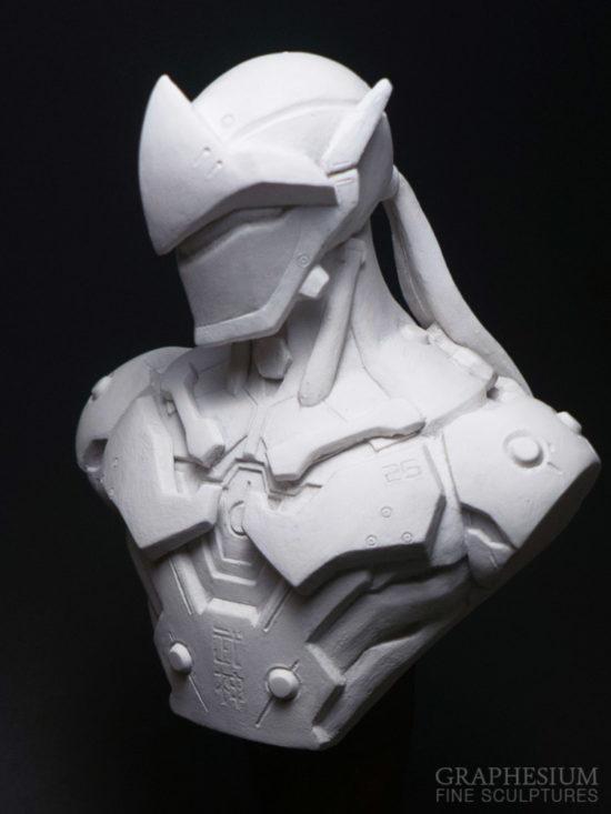 Custom handmade Genji Shimada (Overwatch) sculpture / statue / figure by Graphesium (gsculpt)