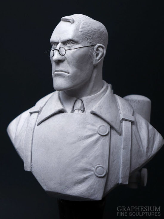 Custom handmade Medic (Team Fortress 2) sculpture / statue / figure by Graphesium (gsculpt)