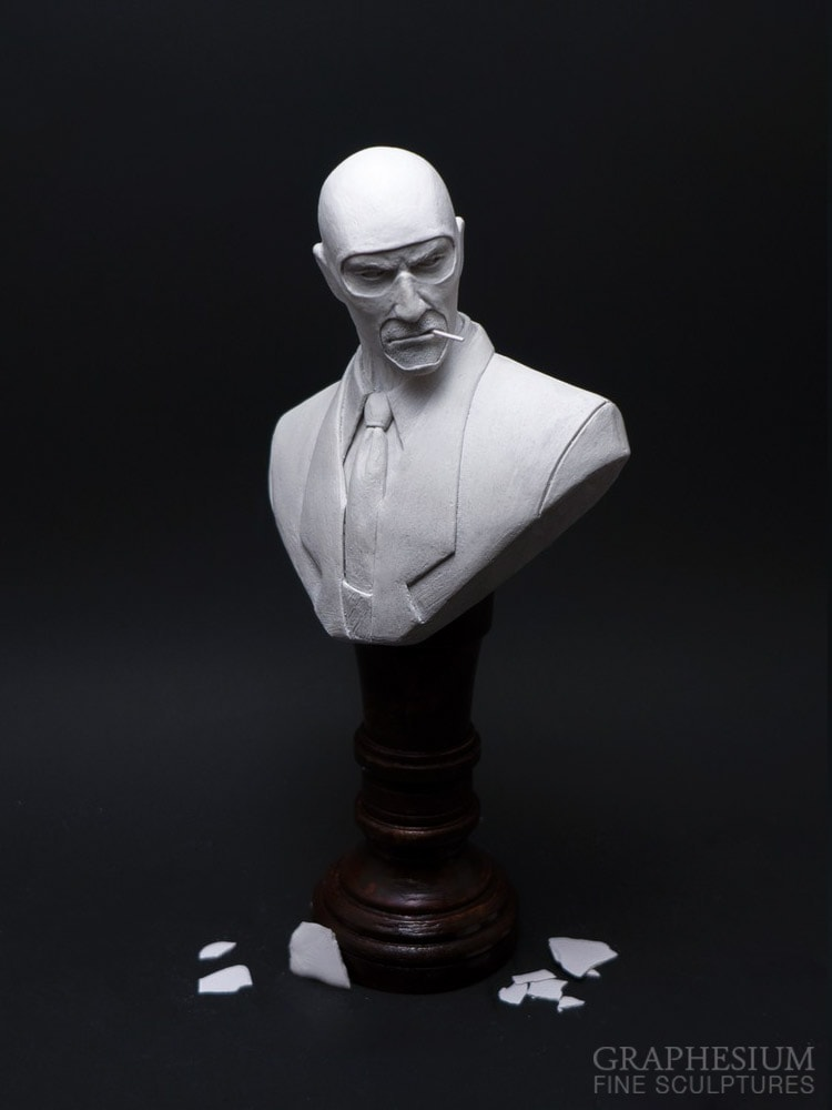 Custom handmade Spy (Team Fortress 2) sculpture / statue / figure by Graphesium (gsculpt)
