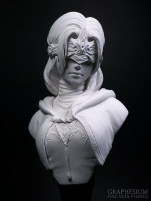 Custom handmade stone Fire Keeper / 火防女 (Dark Souls 3) sculpture / statue / figure by Graphesium (gsculpt)